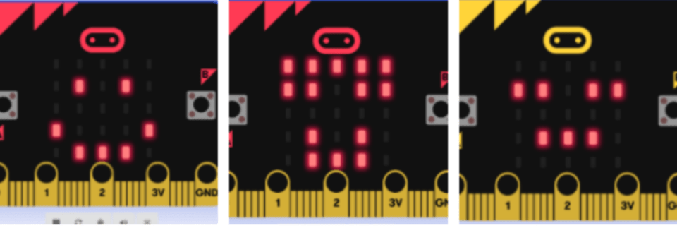 Micro:bit animation with LED grid