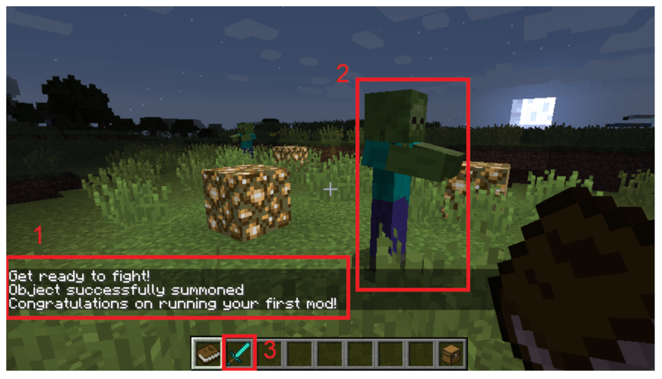 It gives the player a Diamond Sword