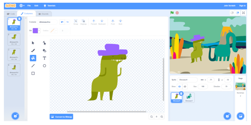 Customize your Scratch coding character