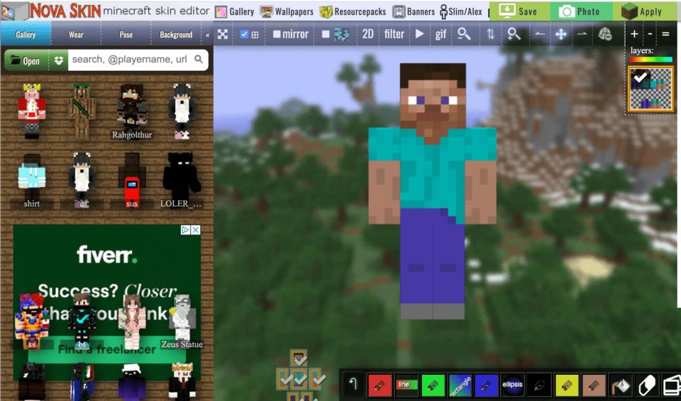 Nova Skin Editor for Minecraft