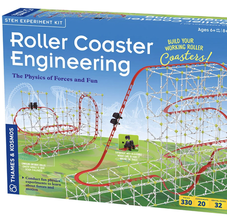 Roller coaster engineering kit for kids' birthdays and holidays gifts